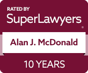 Super Lawyers badge (Alan McDonald)