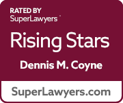 Super Lawyers Rising Stars badge(Dennis Coyne)