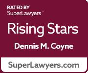 Super Lawyers Rising Stars badge(Dennis Coyne)